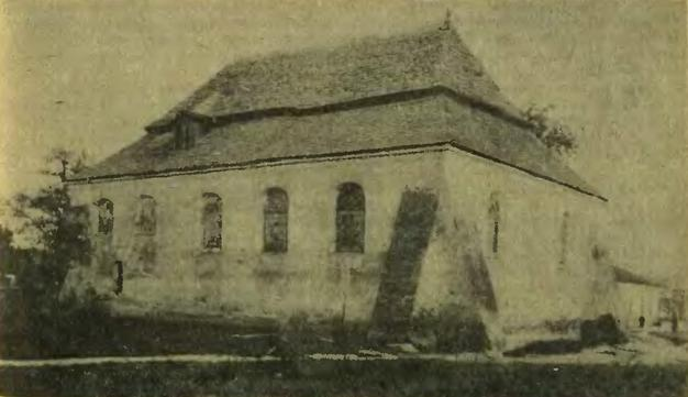 This was the synagogue exterior.